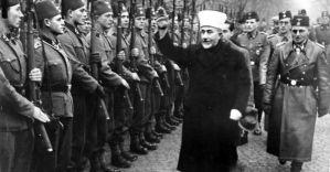 Amin al Husseini, islama eminentulo, salutas je la 1a de Novembro 1943 mahometanojn en SS